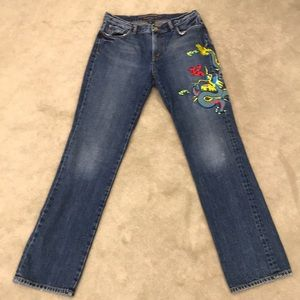 Lauren Jeans Co Dragon embroidery embroidered